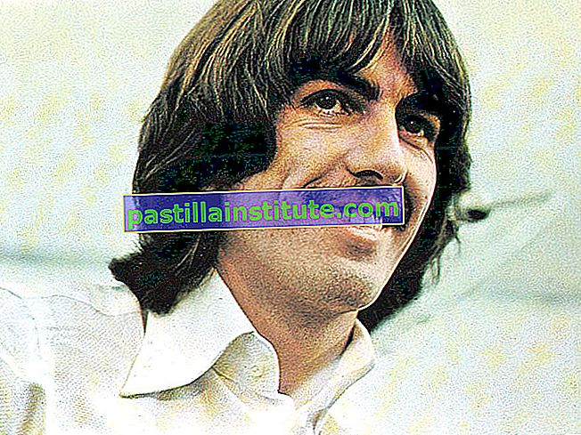 les Beatles. George Harrison. Publicité encore de Let It Be (1970) réalisé par Michael Lindsay Hogg avec les Beatles (John Lennon, Paul McCartney, George Harrison et Ringo Starr) un quatuor musical britannique. film documentaire rock musique film