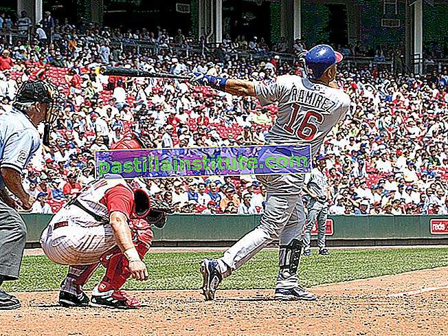 Aramis Ramirez nr 16 från Chicago Cubs ser bollen lämna bollparken mot Cincinnati Reds.  Major League Baseball (MLB).